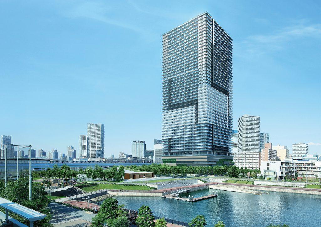 「ブランズタワー豊洲」の完成予想模型