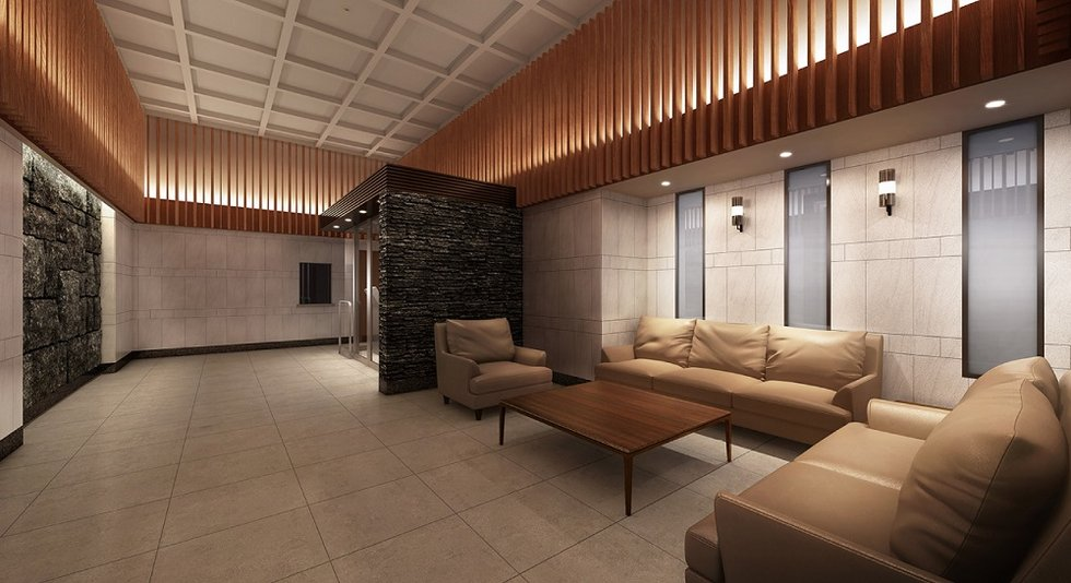 「ザ・パークハウス 本厚木タワー」のエントランスラウンジ完成予想図