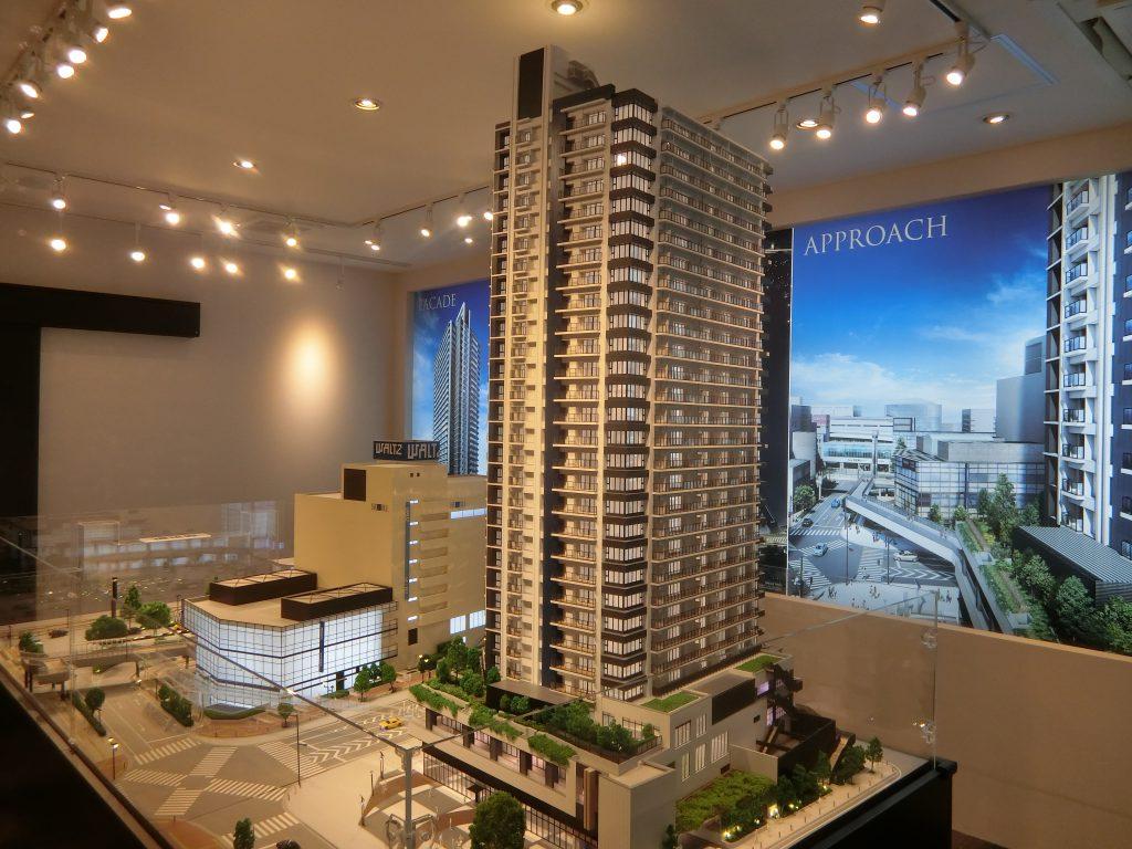 「シティタワー所沢クラッシィ」の完成予想模型