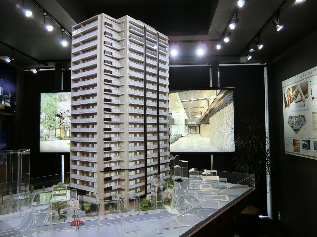 プラウドタワー東池袋の完成予想模型