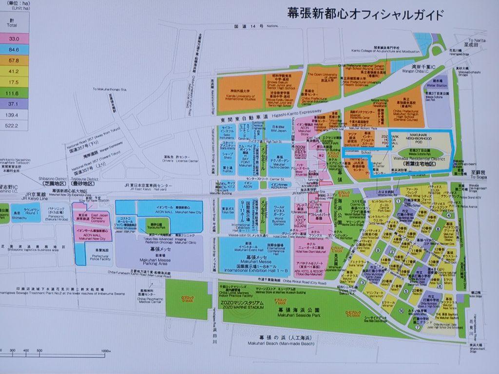 幕張新都心の街区図