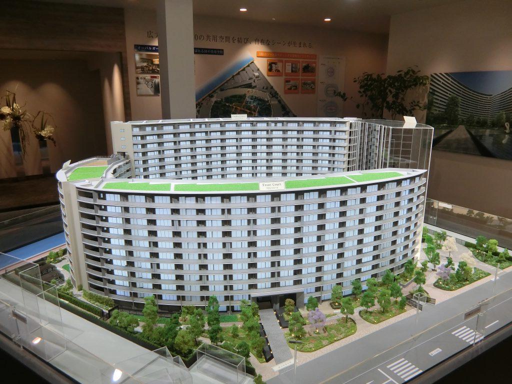 「プラウドシティ東雲キャナルマークス」の完成予想模型