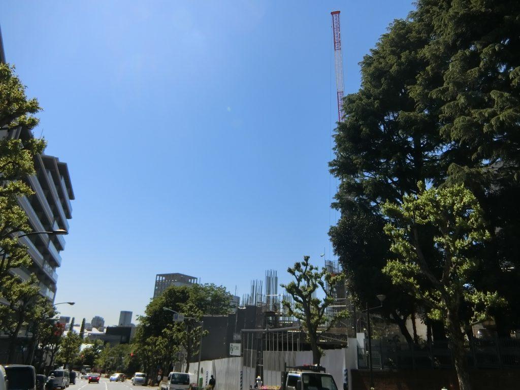 建設中の「ザ・パークハウス 早稲田」(令和元年5月撮影)
