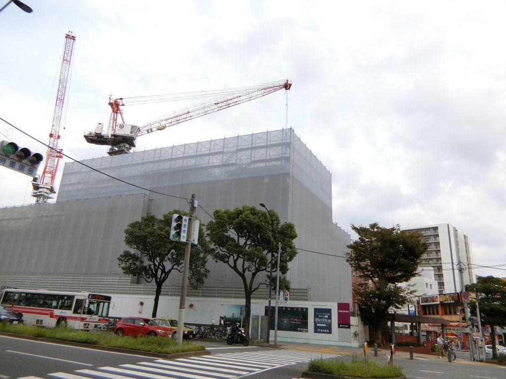 「ブリリアタワー西新」の建設地