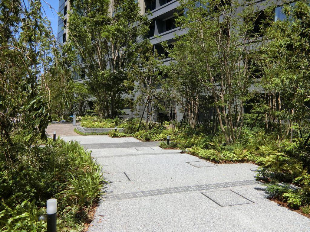 「シティタワー銀座東」の敷地の植栽
