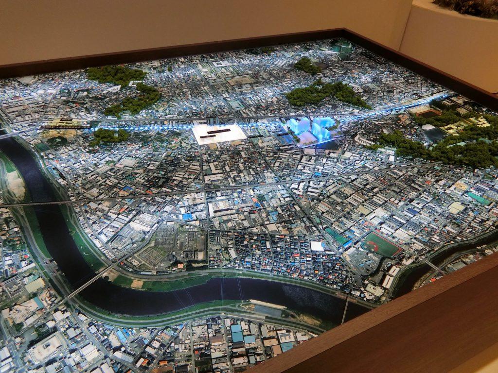 「プラウドシティ日吉」の開発エリアの模型