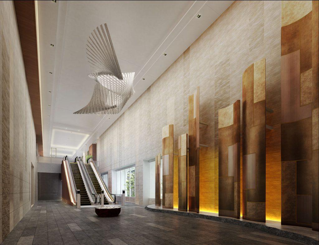「SHIROKANE The SKY(白金ザ・スカイ)」の東棟1階エントランスホール完成予想図
