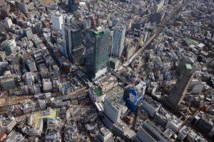 渋谷駅周辺航空写真(提供元:東京急行電鉄株式会社)