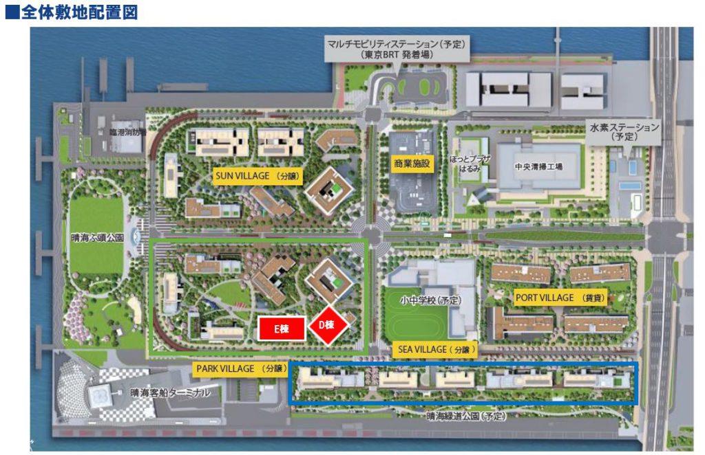「HARUMI FLAG」の全体敷地配置図