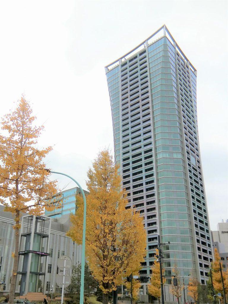 パークコート渋谷 ザ タワーの外観写真(2020年11月撮影)