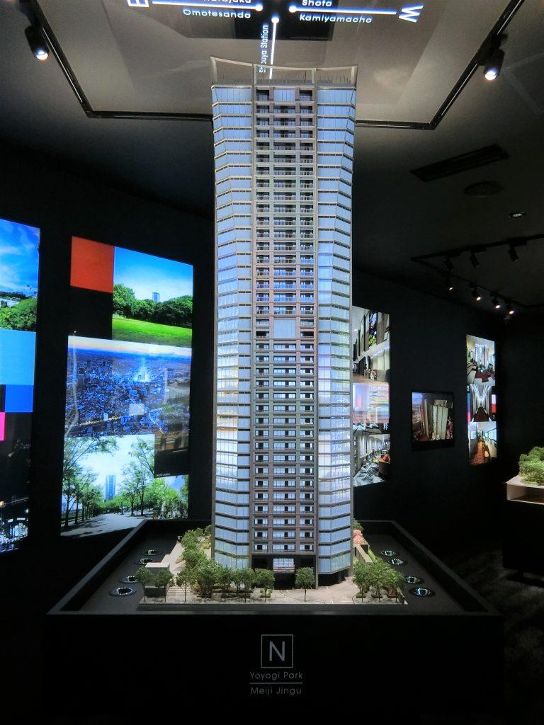 「パークコート渋谷ザ タワー」の完成予想模型