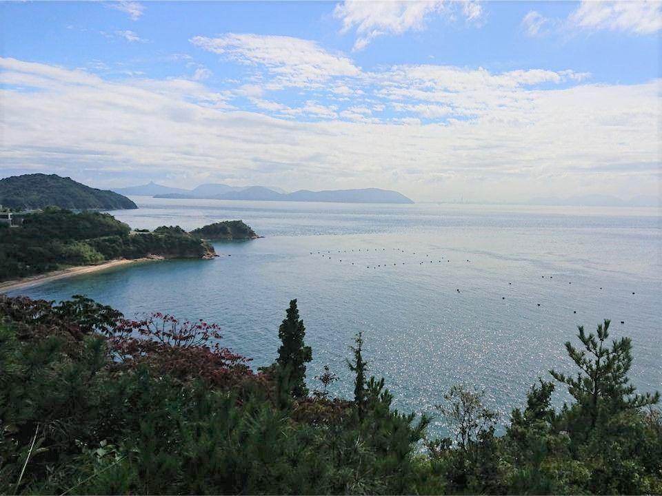 直島から見た瀬戸内海の景色