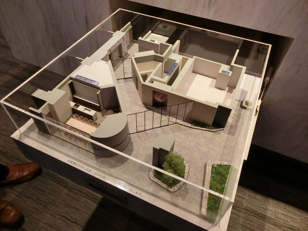 「Brillia 上野 Garden」の1階共用部完成予想模型