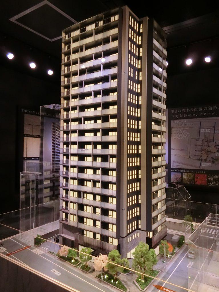 「Brillia 上野 Garden」の完成予想模型