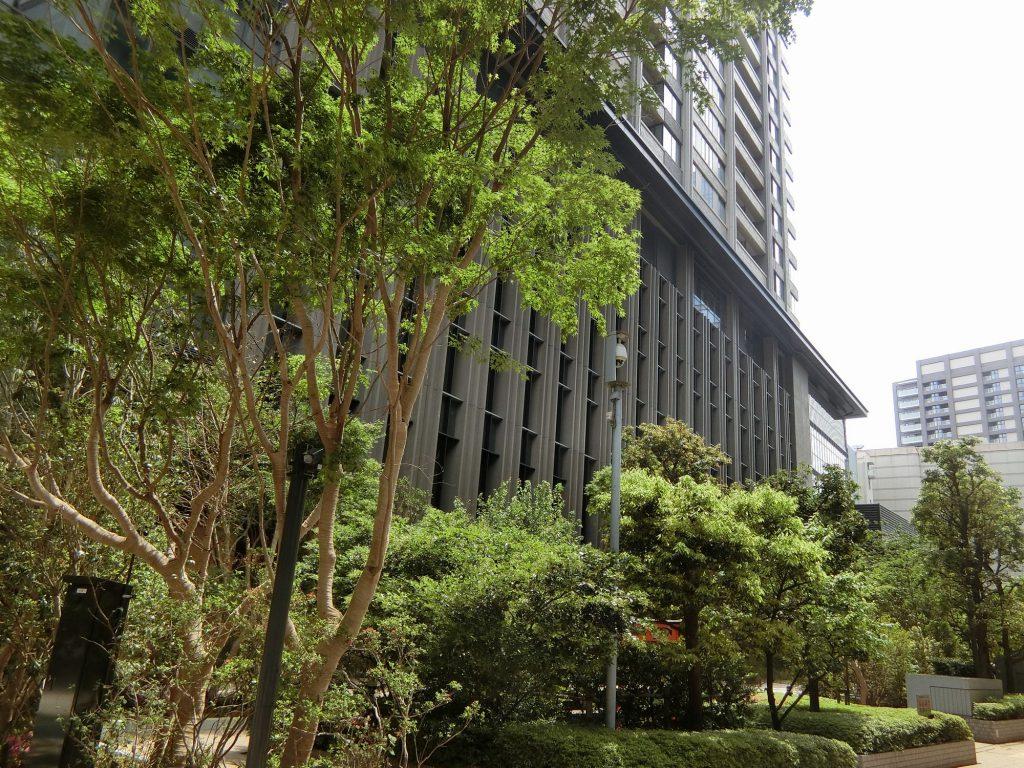 完成した「パークコート文京小石川 ザ タワー」の外観(西側から)