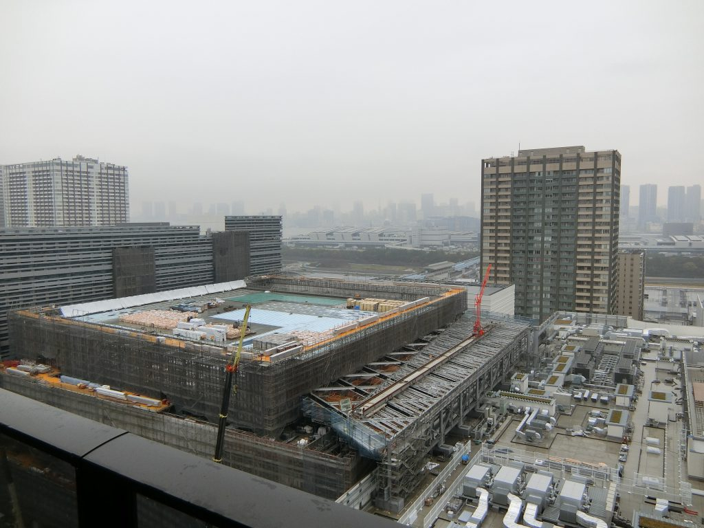 建設中の「有明ガーデン」の開発街区