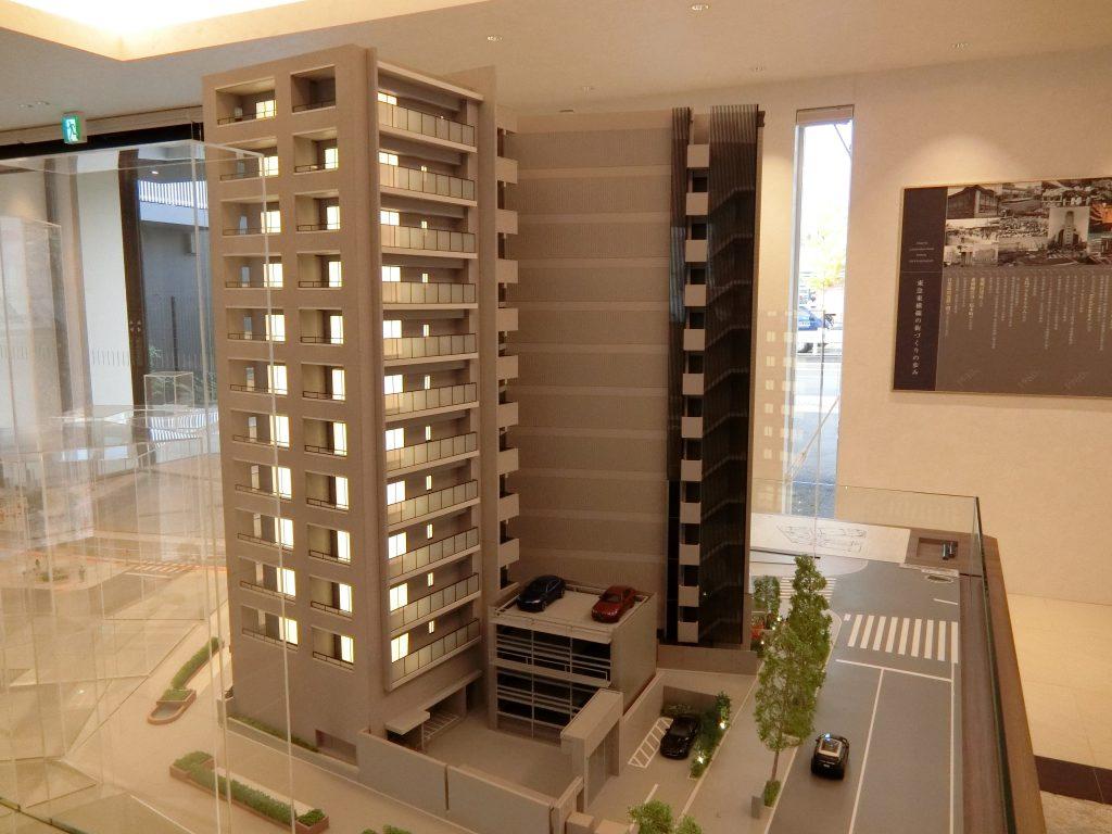 「ドレッセ都立大学」の完成予想模型