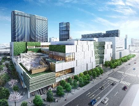 大型商業施設「ショッピングシティ 有明ガーデン」完成予想図