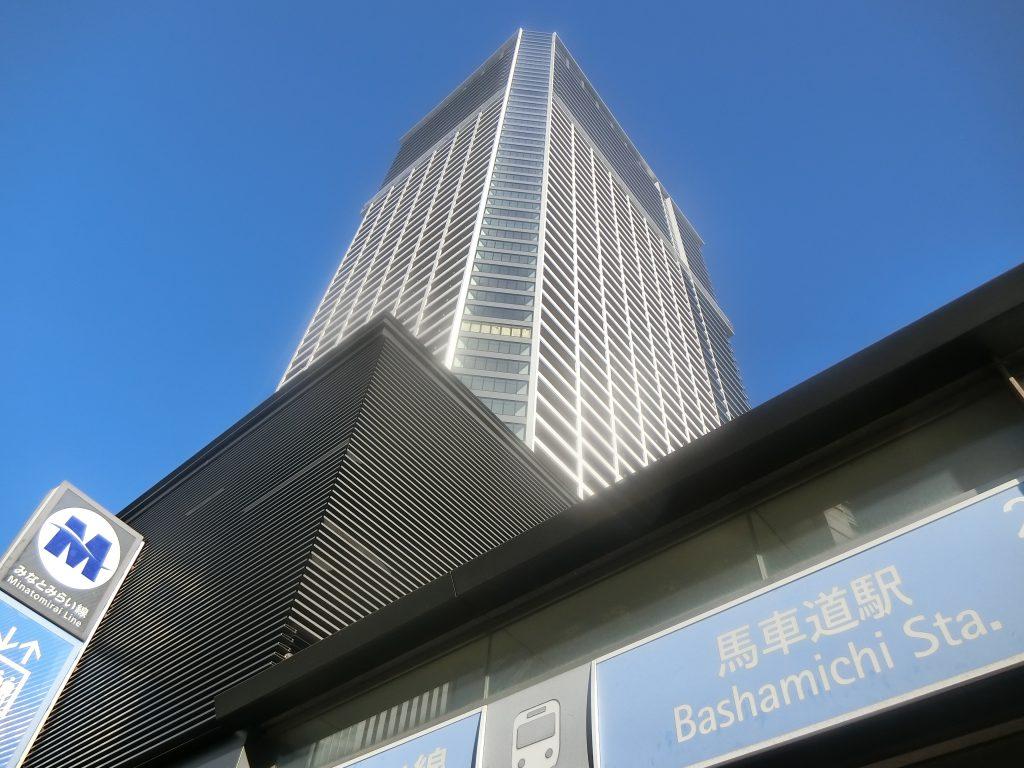 「馬車道」駅に直結する建設中の「ザ・タワー横浜北仲」