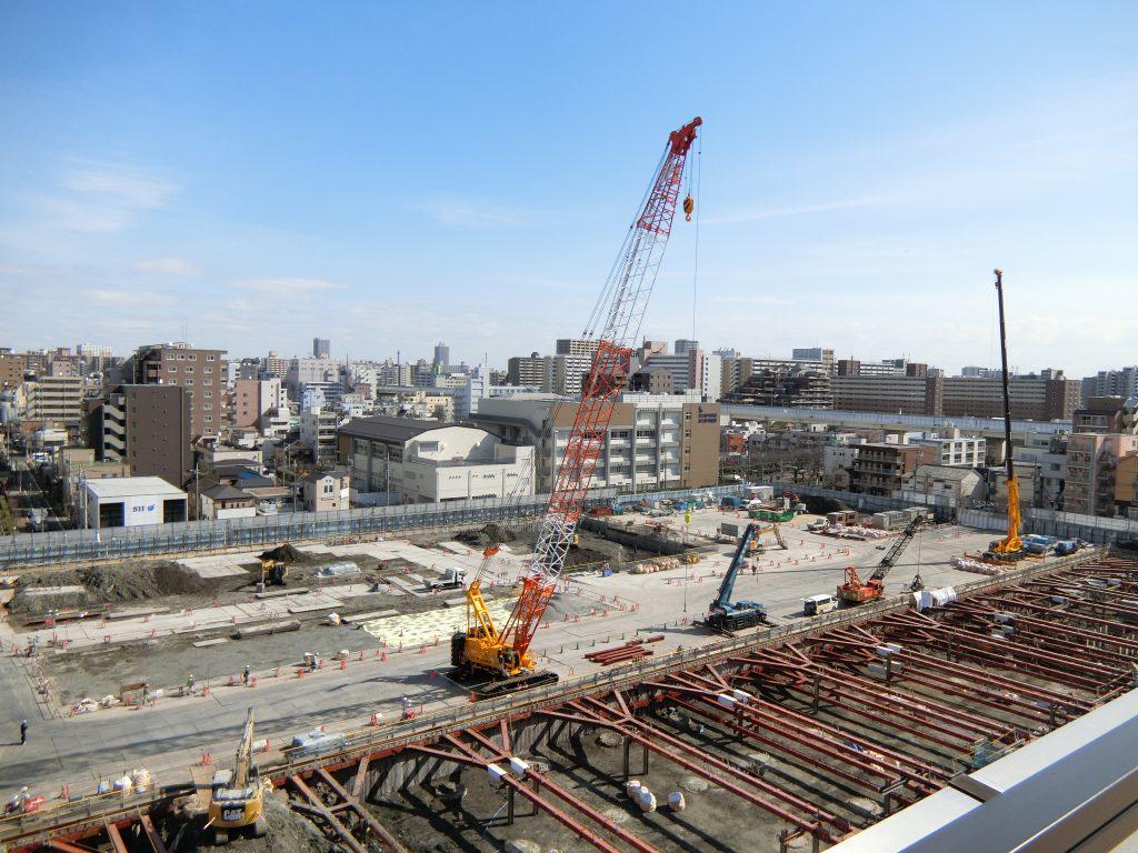 「プラウドタワー亀戸クロス」の建設地