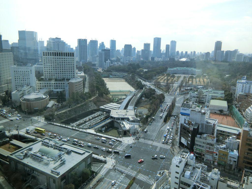 フィスから赤坂迎賓館方面を望む(2020年2月撮影)