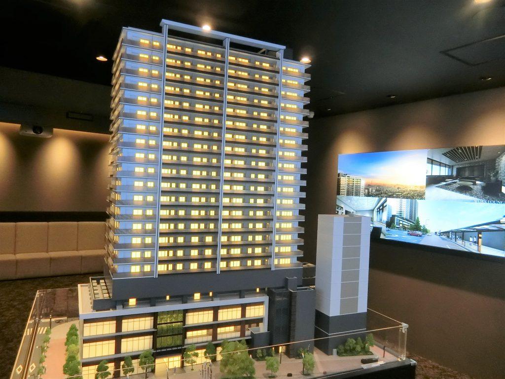 「プラウドタワー金町」の完成予想模型