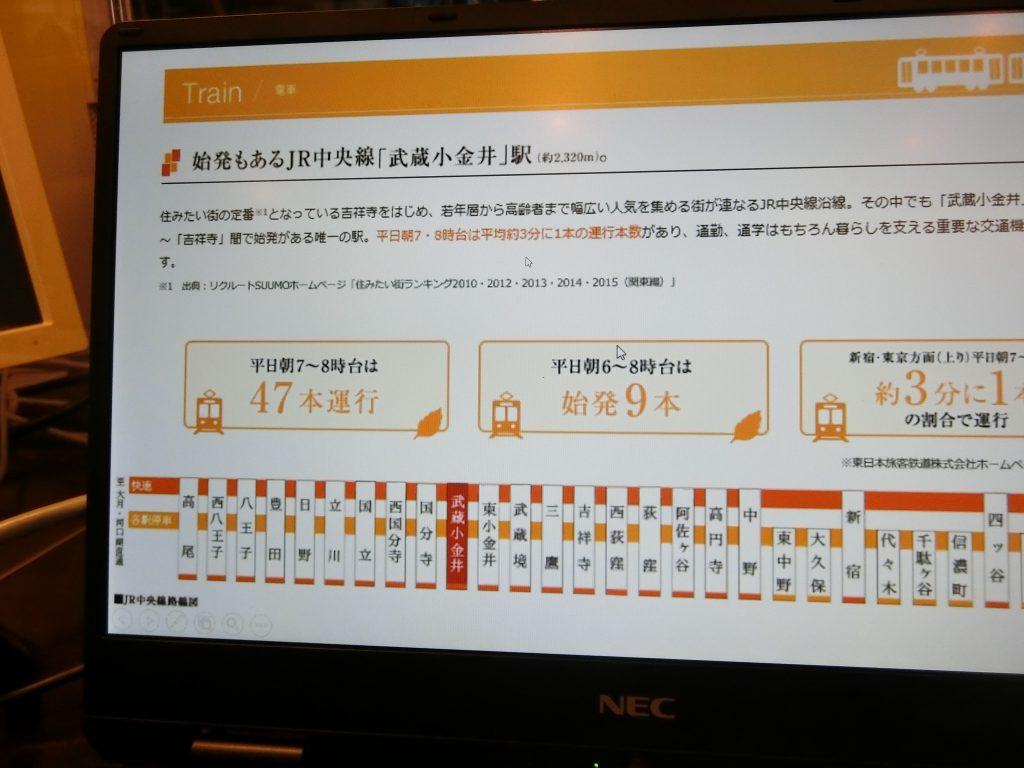 パソコンなどで詳細な物件情報を確認できる