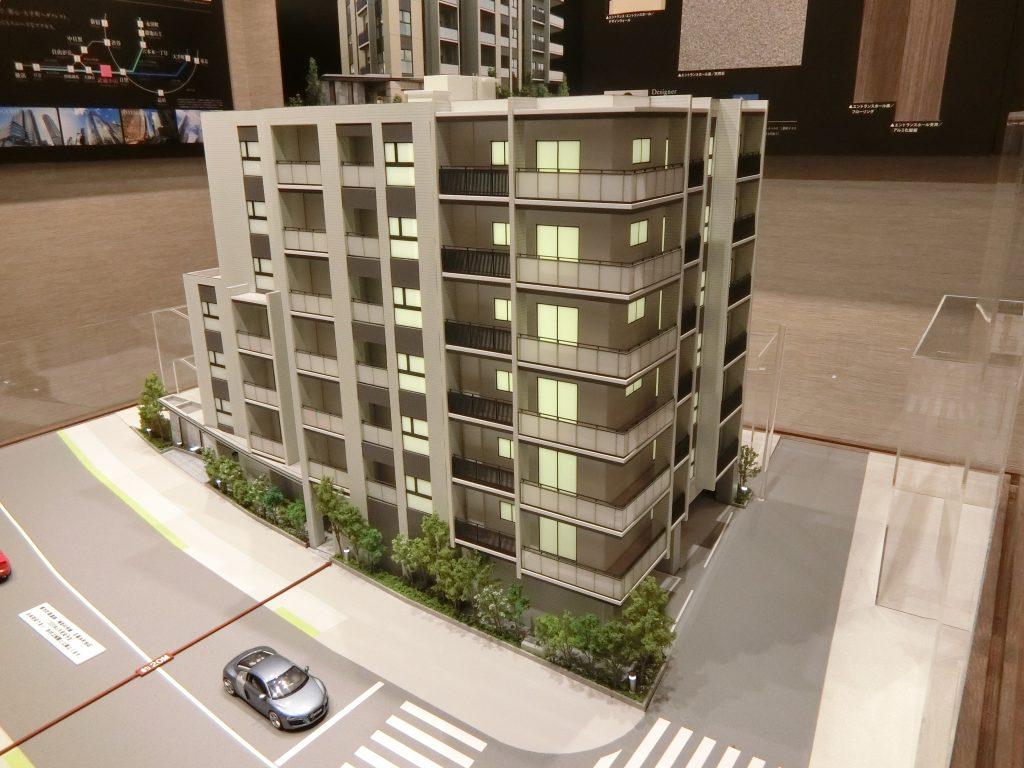 「ザ・パークハウス 目黒本町」の完成予想模型