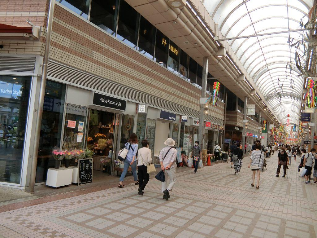 武蔵小山駅前の商店街「パルム」