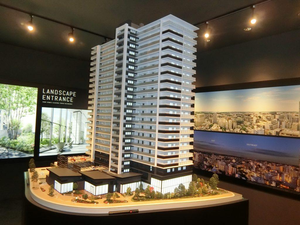 「パークホームズ柏タワーレジデンス」の完成予想模型