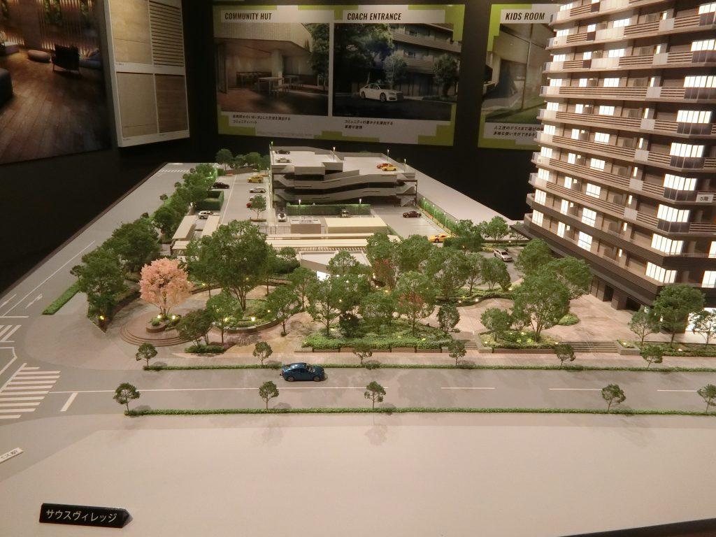 「パークシティ柏の葉キャンパスサウスマークタワー」の完成予想模型