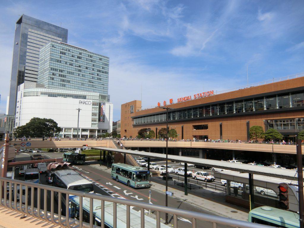 全国唯一の上昇地点がある仙台駅前