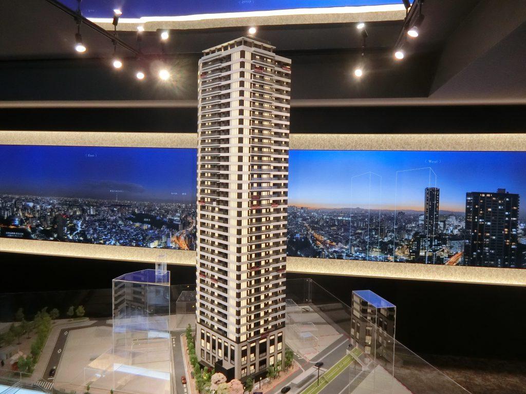 「プラウドタワー東池袋ステーションアリーナ」の完成予想模型