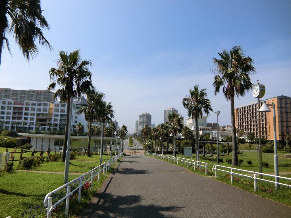 「総合公園」から市街地を望む