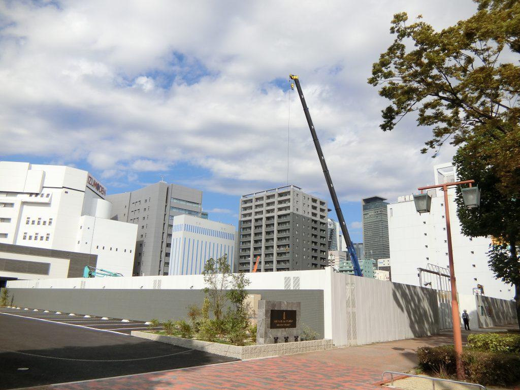 「NAGOYA the TOWER」の建設地 2020年10月撮影