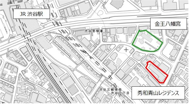 「秀和青山レジデンス建替え計画」地図