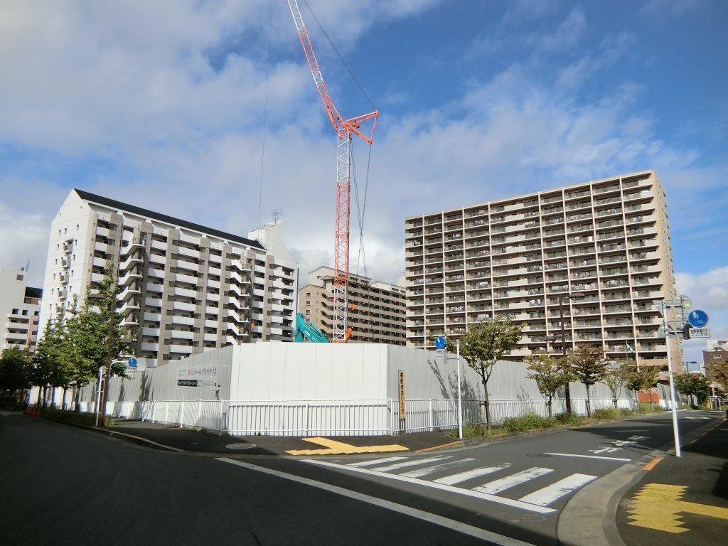 「オーベルグランディオ平井」の建設地(2020年9月撮影)