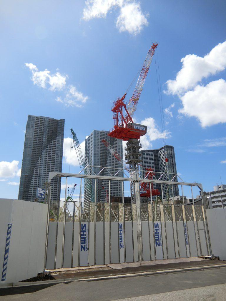 「パークタワー勝どきミッド/サウス」の建設地