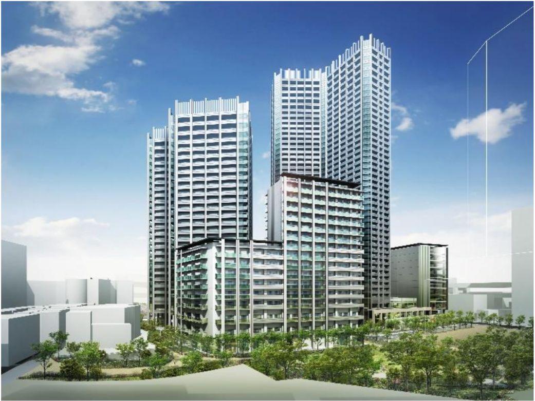 「三田小山町西地区第一種市街地再開発事業」建物完成予想図