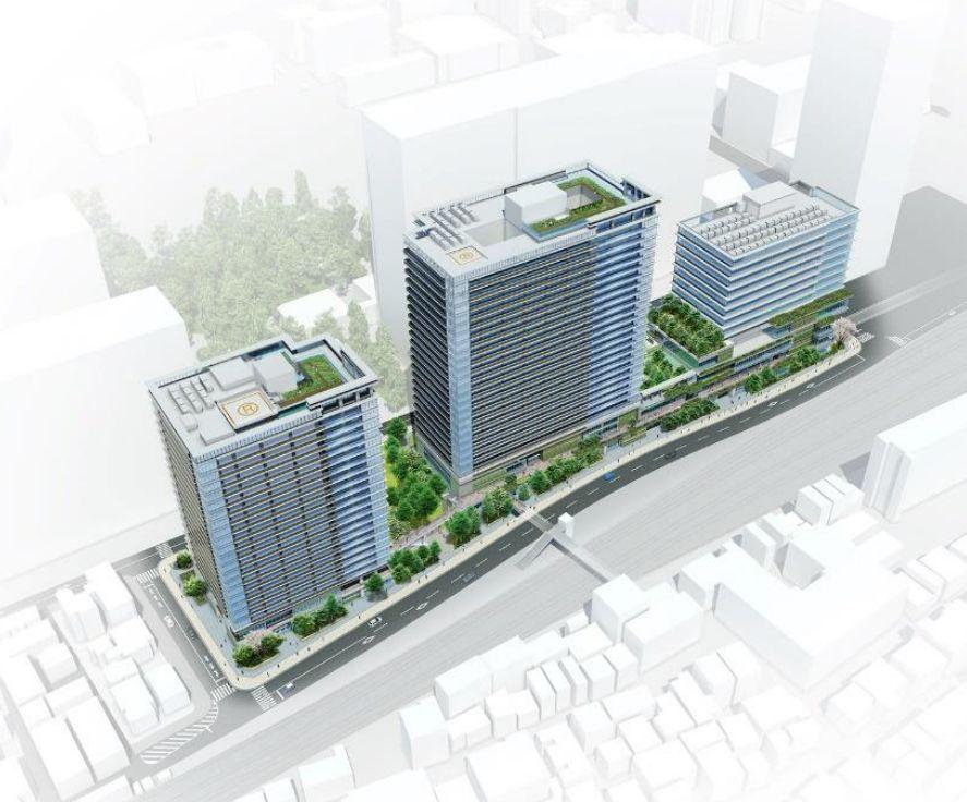 「囲町東地区第一種市街地再開発事業」完成予想CG