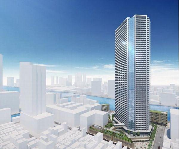 「月島三丁目北地区第一種市街地再開発事業」の外観完成予想パース