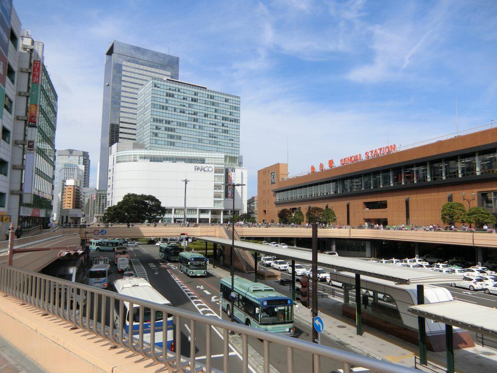 「仙台」駅前