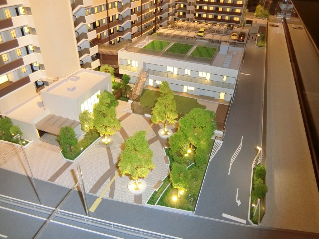 「ザ・パークハウス 横浜新子安フロント」の完成予想模型