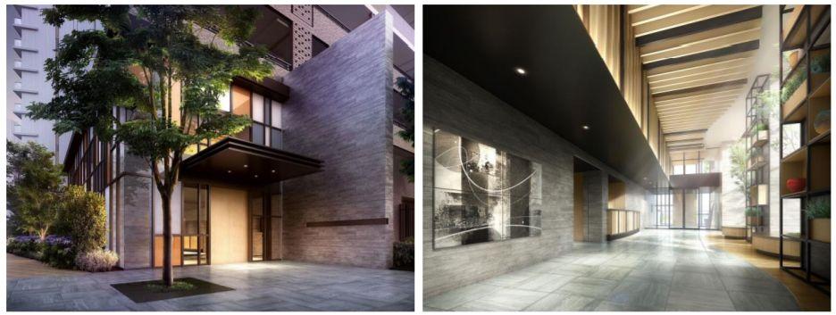 SHINTO CITY(シントシティ)の「Ⅲ街区」の共用施設のエントランス