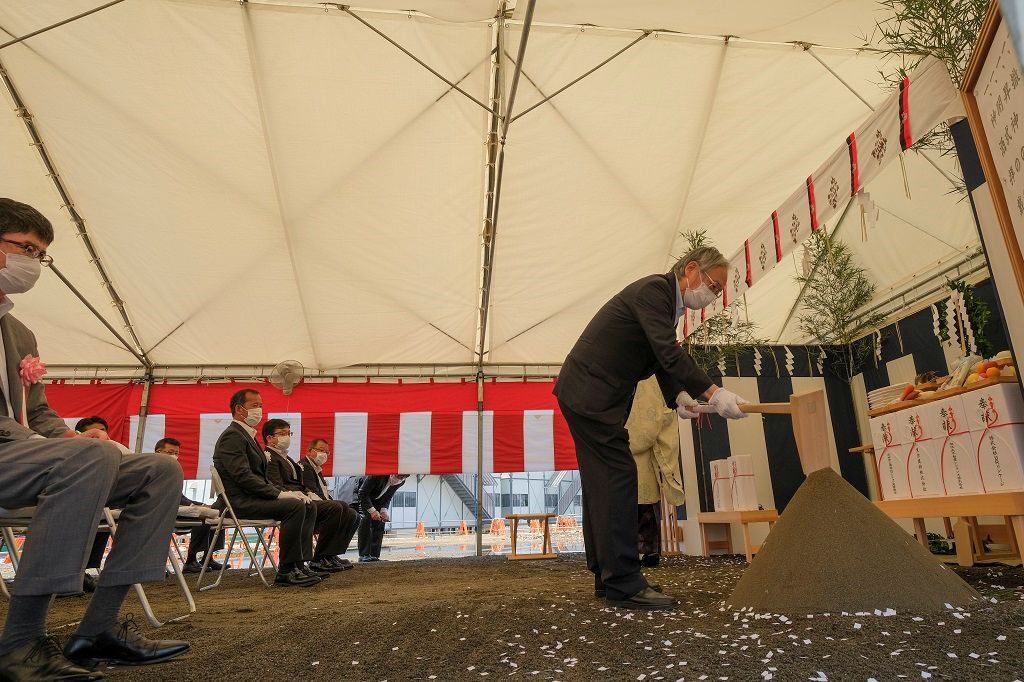 石神井公園団地建替えプロジェクトの地鎮祭の様子