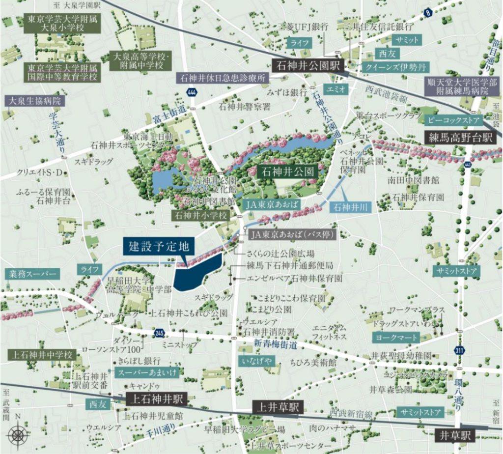 石神井公園団地建替えプロジェクトの建設地の位置