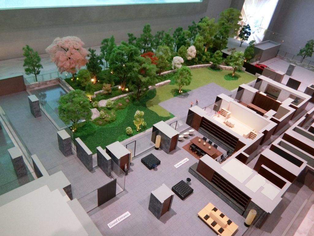 「ブリリアシティ西早稲田」の共用部の完成予想模型