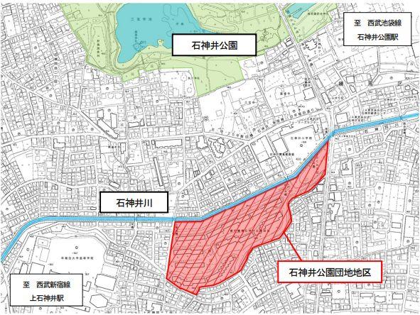 石神井公園団地の位置図