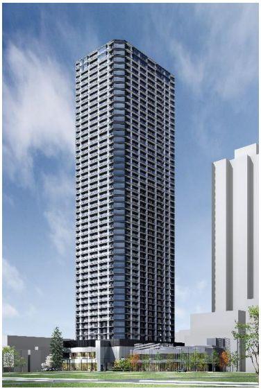 「月島三丁目南地区第一種市街地再開発事業」の建物外観完成予想 CG