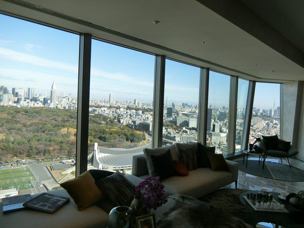 「パークコート渋谷 ザ タワー」の36階住戸からの眺望